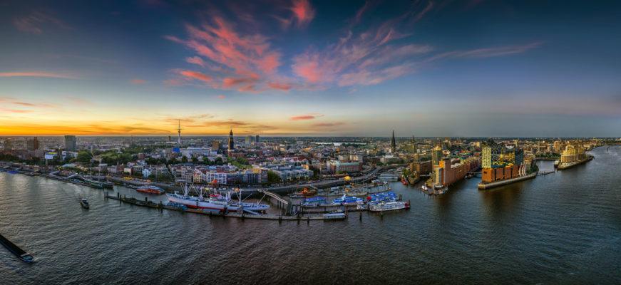 Luftaufnahme, Drohne, Hamburg